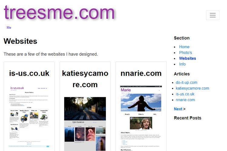 My Websites - treesme.com