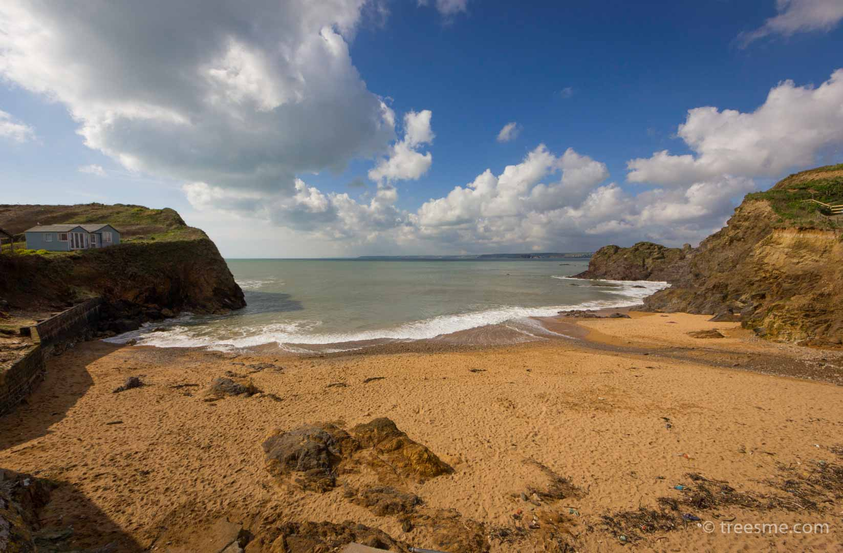 The smaller beach (Mouthwell Sands) at Hope Cove, Devon, England